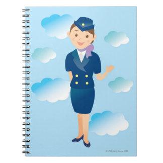 Flight Attendant Notebook