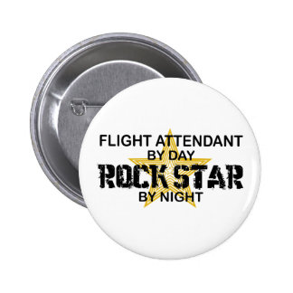Flight Attendant Rock Star 6 Cm Round Badge
