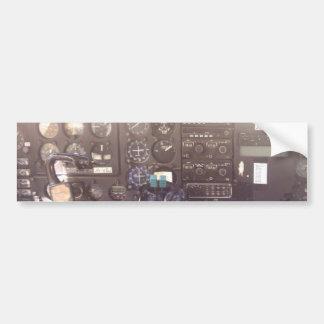 Flight Controls on Small Jet Plane Bumper Sticker