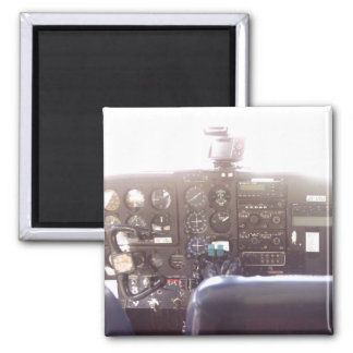 Flight Controls on Small Jet Plane Magnet