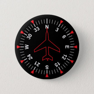 Flight Instruments 6 Cm Round Badge