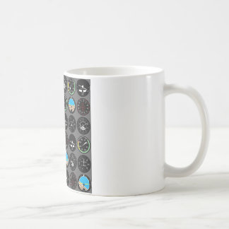 Flight Instruments Basic White Mug