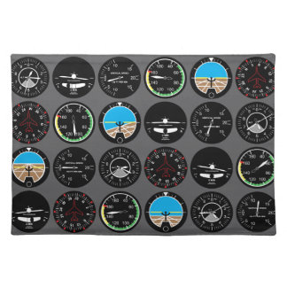 Flight Instruments Placemats