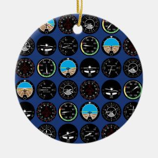Flight Instruments Christmas Tree Ornaments