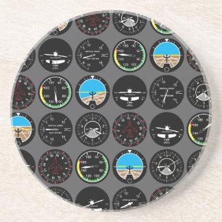 Flight Instruments Drink Coasters