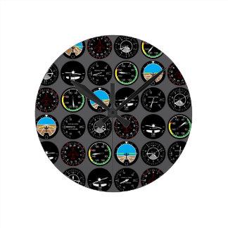 Flight Instruments Round Clock