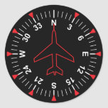 Flight Instruments Round Sticker