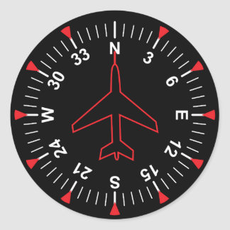 Flight Instruments Round Sticker