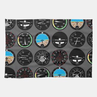 Flight Instruments Tea Towels