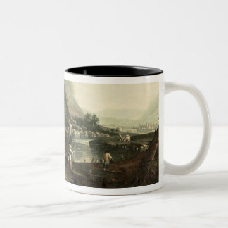 Flight into Egypt Two-Tone Coffee Mug