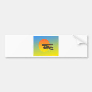 Flight into Sunset Bumper Sticker