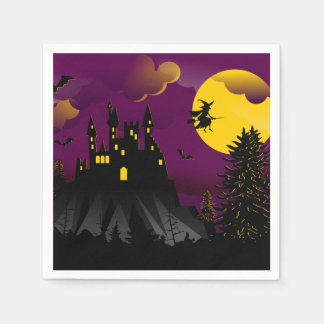 Flight Night Halloween Party Paper Napkins