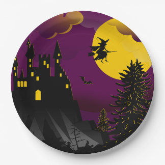 Flight Night Halloween Party Paper Plates