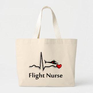 Flight Nurse QRS & Helicopter Design Large Tote Bag