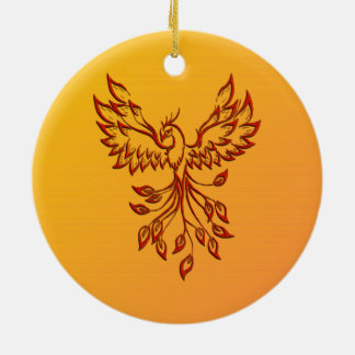 Flight of A Phoenix Christmas Ornament