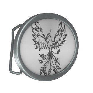 Flight of A Phoenix Silver Belt Buckles