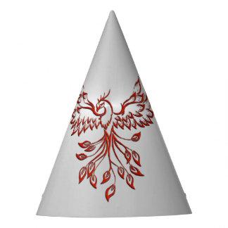 Flight of A Phoenix Silver Party Hat