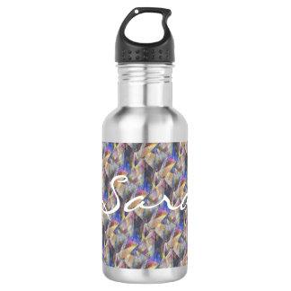 """""""Flight of Fancy"""" Personalised Steel Water Bottle"""