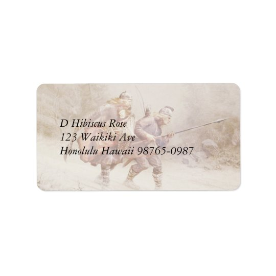 Flight of Infant King Address Label