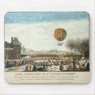 Flight of Jacques Charles  and Nicholas Robert Mouse Mat