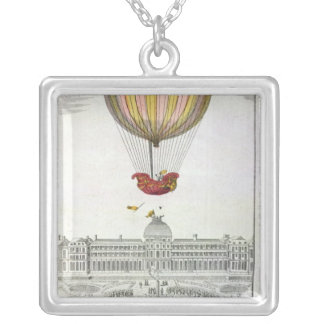 Flight of Jacques Charles  and Nicholas Robert Silver Plated Necklace