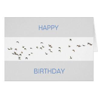 Flight of Mallard Ducks Card
