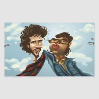 Flight of the Concords Caricature Stickers