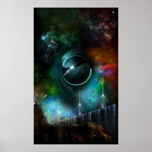 Flight Of The Corbius Fractal Art Wall Poster