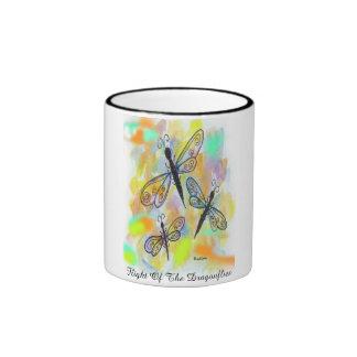 """FLIGHT OF THE DRAGONFLIES"" 11 oz. RINGER COFFEE M Ringer Mug"
