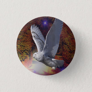 Flight of the Night Owl. 3 Cm Round Badge