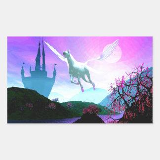 Flight of the Pegasus Rectangular Sticker