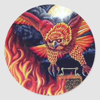 Flight of the Phoenix Classic Round Sticker