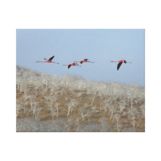 Flight or the flamingos canvas print