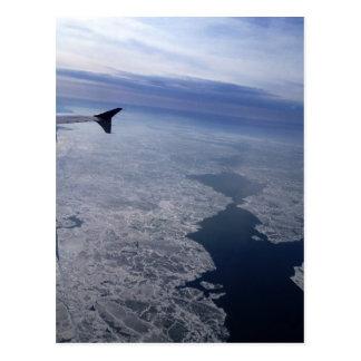 Flight Over Frozen Waters Postcard