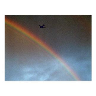 Flight Over Rainbow Postcard