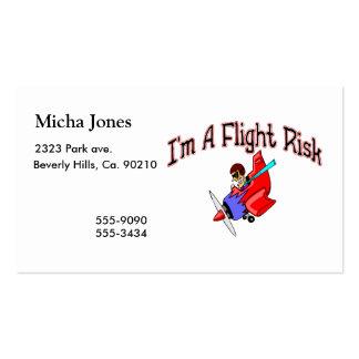 Flight Risk Pack Of Standard Business Cards