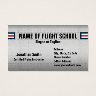 Flight School Or Aviation Field Business Card