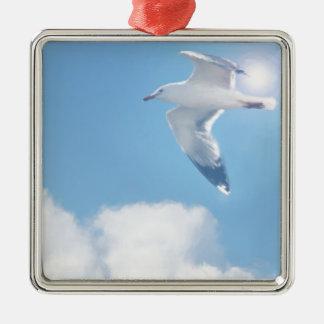 FLIGHT Silver-Colored SQUARE DECORATION