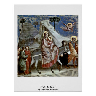 Flight To Egypt By Giotto Di Bondone Poster