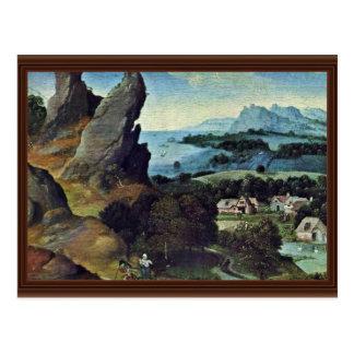 Flight To Egypt By Patinir Joachim Best Quality Post Cards