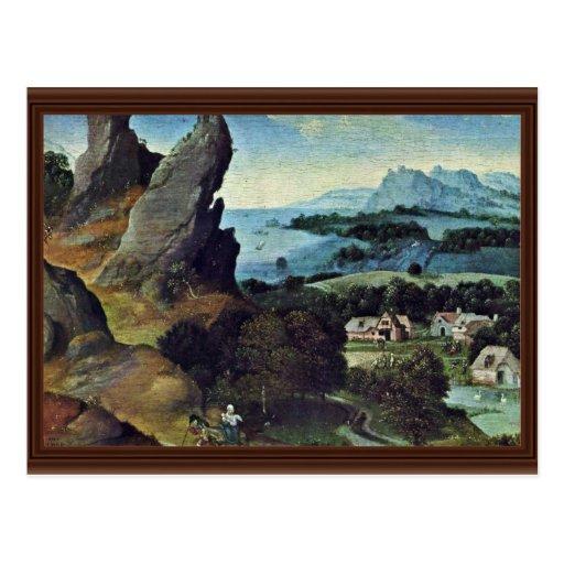 Flight To Egypt By Patinir Joachim (Best Quality) Post Cards