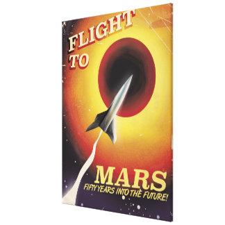 Flight To Mars! vintage sci-fi poster Canvas Print