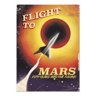 Flight To Mars! vintage sci-fi poster Photographic Print