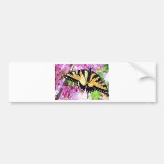 Flights of the Butterfly in PInk Bumper Sticker