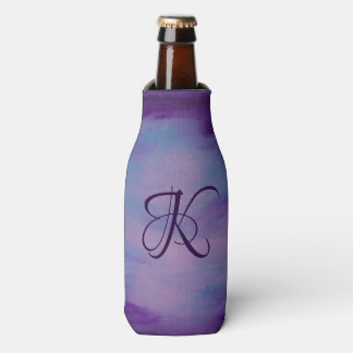 Flighty Bar | Monogram Purple Blue Pink Pastel | Bottle Cooler