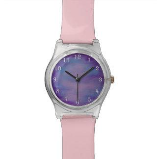 Flighty Bling | Chic Pink Pastel Purple Blue Fun Watch