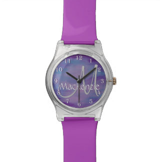 Flighty Bling | Name Chic Purple Blue Pink Pastel Watch
