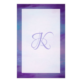 Flighty Office | Monogram Purple Blue Pink | Chic Stationery