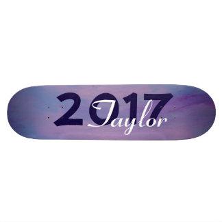 Flighty Pink Purple Blue Sky Clouds Graduation Skateboards