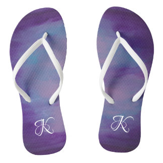 Flighty Style | Monogram Purple Blue Pink | Pastel Flip Flops